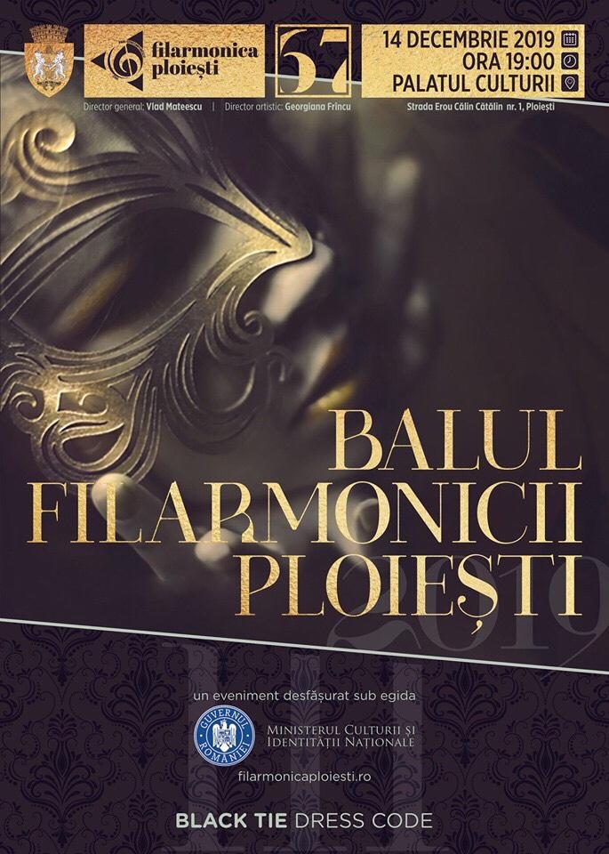 Balul Filarmonicii Paul Constantinescu, un eveniment cultural de elită, la Ploiești